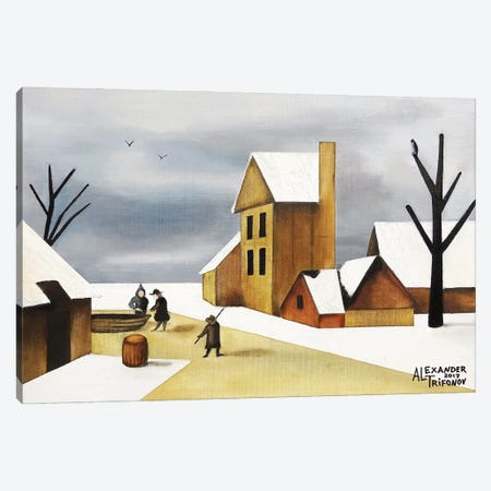 Haarlem In Winter Canvas Print #ATF103} by Alexander Trifonov Canvas Art Print