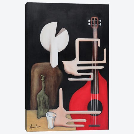 Guitar Player Canvas Print #ATF118} by Alexander Trifonov Canvas Wall Art