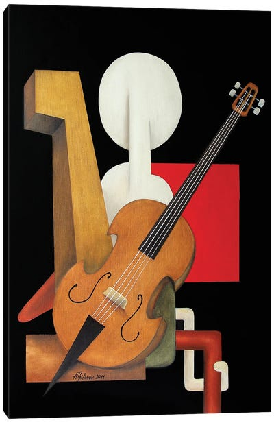 Violoncelliste Canvas Art Print