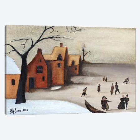 On The Frozen Lake Canvas Print #ATF25} by Alexander Trifonov Canvas Artwork
