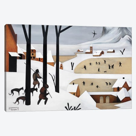 The Hunters In The Snow Canvas Print #ATF35} by Alexander Trifonov Art Print