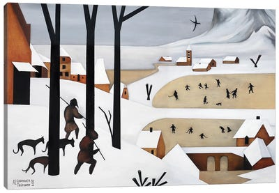 The Hunters In The Snow Canvas Art Print