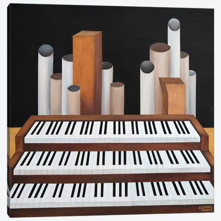 Organ Canvas Print #ATF37} by Alexander Trifonov Canvas Print