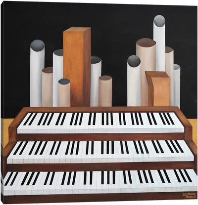 Organ Canvas Art Print