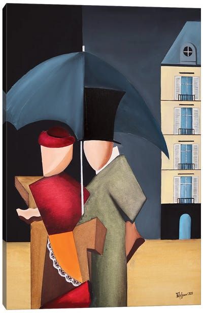 Rainy Day In Paris Canvas Art Print