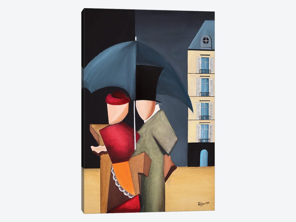 Rainy Day In Paris by Alexander Trifonov 1-piece Canvas Artwork