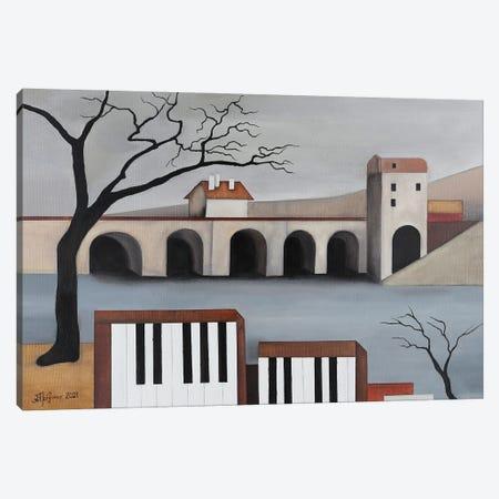 The Musical Bridge Canvas Print #ATF90} by Alexander Trifonov Canvas Wall Art