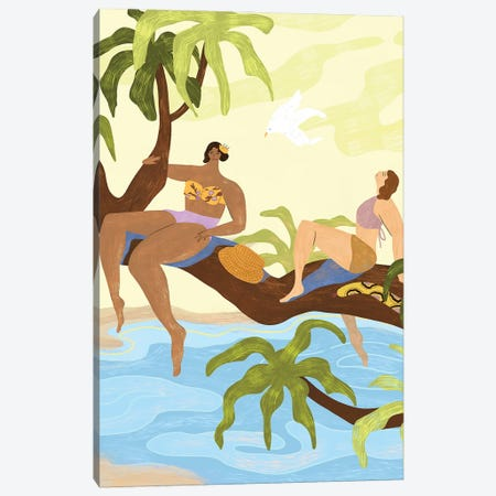 Sharing A Tree Canvas Print #ATG10} by Arty Guava Canvas Art Print