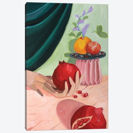 Pomegranate Canvas Print #ATG12} by Arty Guava Art Print