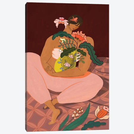 Plant Mama Canvas Print #ATG14} by Arty Guava Canvas Artwork