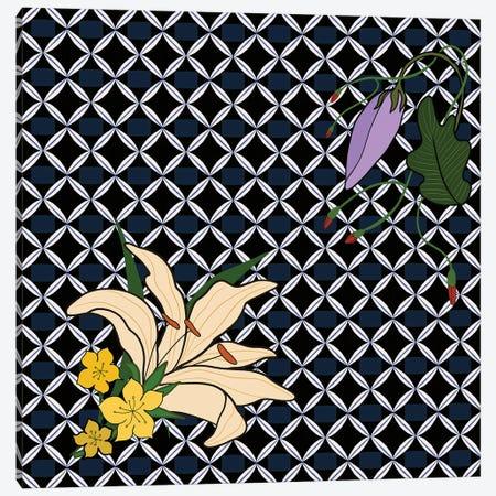 Peranakan Floral Pattern Canvas Print #ATG18} by Arty Guava Canvas Art Print
