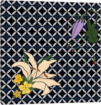 Peranakan Floral Pattern Canvas Art Print