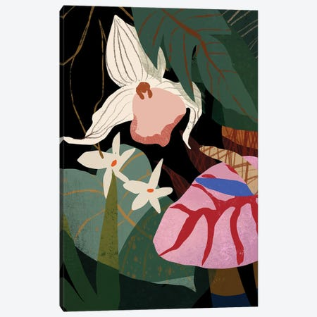 Orchid And Anthurium Canvas Print #ATG19} by Arty Guava Canvas Print