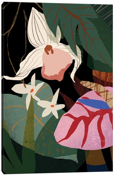 Orchid And Anthurium Canvas Art Print