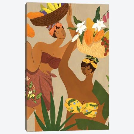 Oops I Drop My Papaya Canvas Print #ATG20} by Arty Guava Canvas Artwork