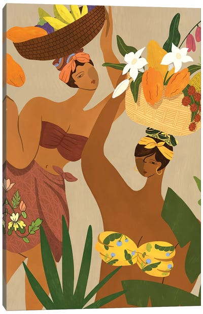 Oops I Drop My Papaya Canvas Art Print
