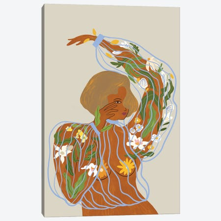 Nurture And Grow Canvas Print #ATG21} by Arty Guava Canvas Artwork