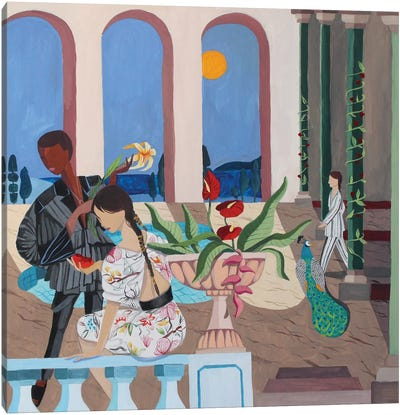 Midnight Rendezvous Canvas Art Print