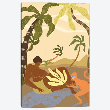 Monkey Around Canvas Print #ATG25} by Arty Guava Art Print