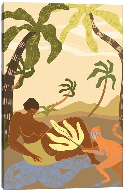 Monkey Around Canvas Art Print