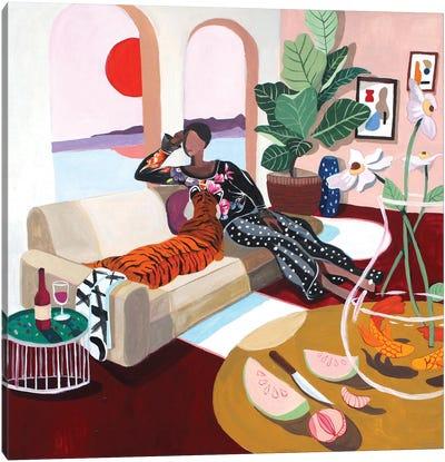 Tiger Queen Canvas Art Print