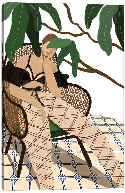 Lounging Canvas Art Print