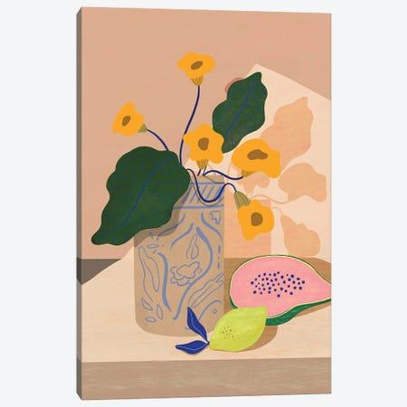 Lemon And Papaya Canvas Print #ATG28} by Arty Guava Canvas Art
