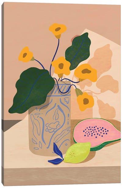 Lemon And Papaya Canvas Art Print