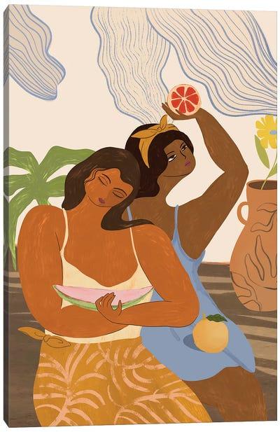 Fruity Friends Canvas Art Print