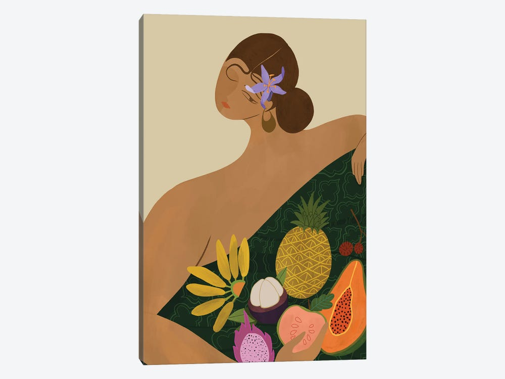 The Fruit Seller by Arty Guava 1-piece Canvas Art Print