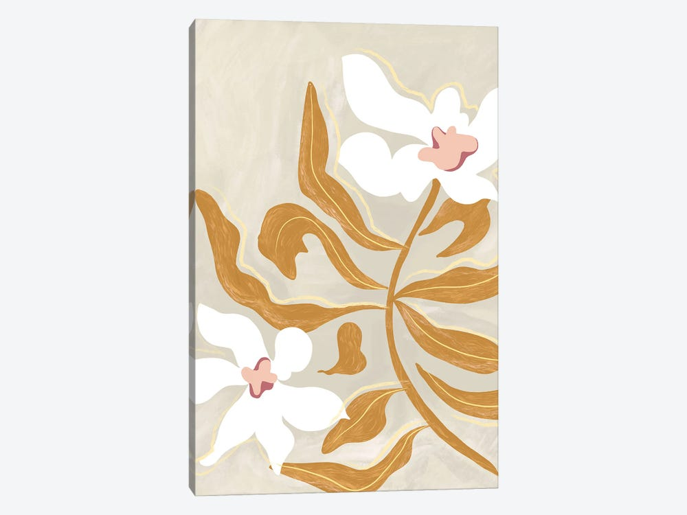Flowers by Arty Guava 1-piece Canvas Art Print