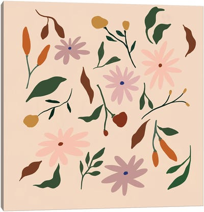 Floral Pattern Canvas Art Print
