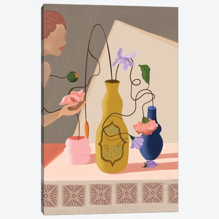 Flower Appreciation Canvas Print #ATG43} by Arty Guava Canvas Artwork