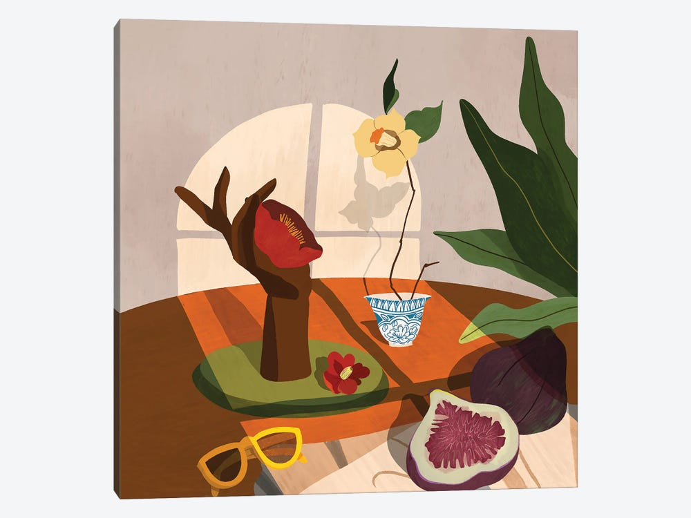 Figs And Camelia by Arty Guava 1-piece Canvas Print