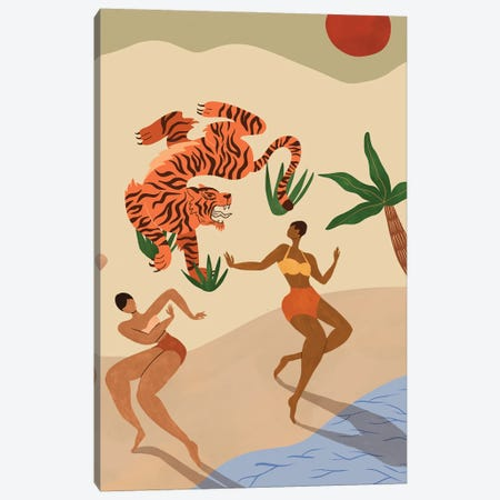 Dancing With The Tiger Canvas Print #ATG47} by Arty Guava Canvas Print