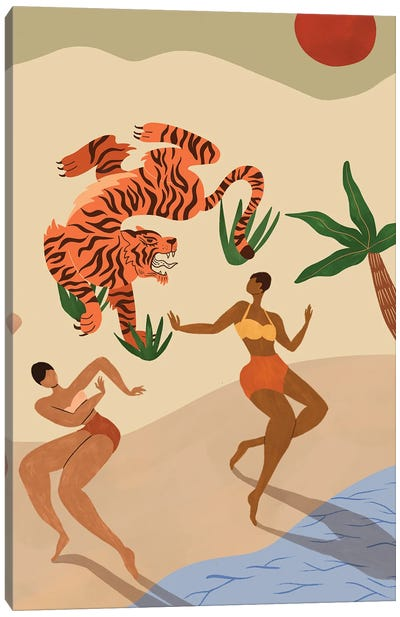 Dancing With The Tiger Canvas Art Print