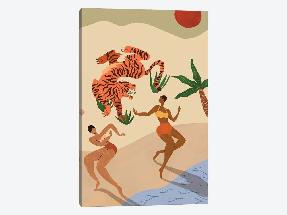 Dancing With The Tiger by Arty Guava 1-piece Canvas Artwork