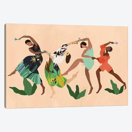 My Tribe Canvas Print #ATG49} by Arty Guava Canvas Wall Art
