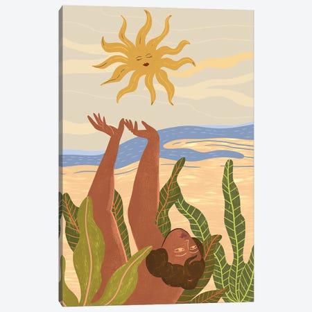 Sun Salutation Canvas Print #ATG4} by Arty Guava Canvas Wall Art
