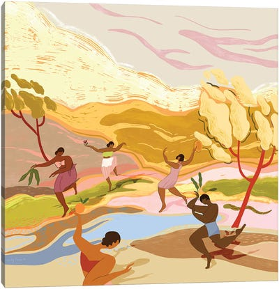 Dancing In Paradise Canvas Art Print