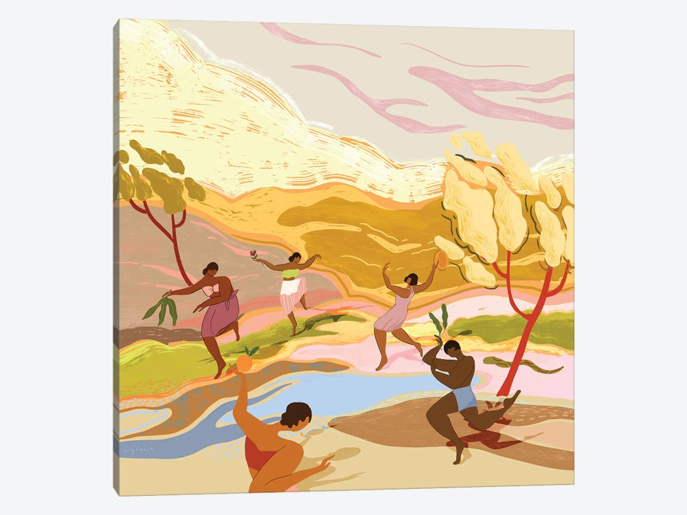 Dancing In Paradise by Arty Guava 1-piece Canvas Wall Art
