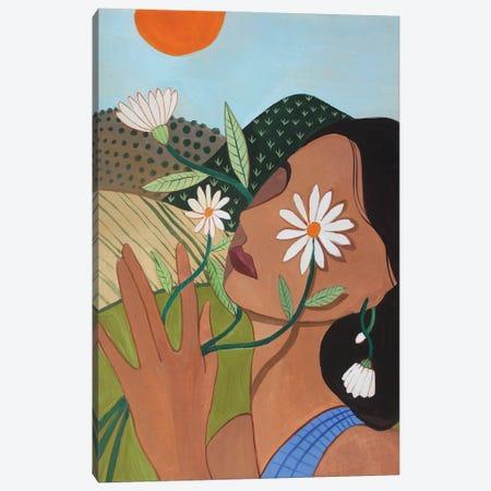 Daisy Canvas Print #ATG52} by Arty Guava Canvas Art Print