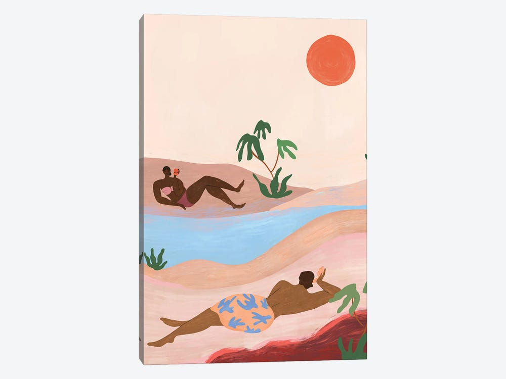 Beach Please by Arty Guava 1-piece Canvas Wall Art