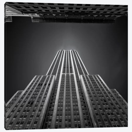 Empire State Building Canvas Print #ATH5} by Ahmed Thabet Art Print