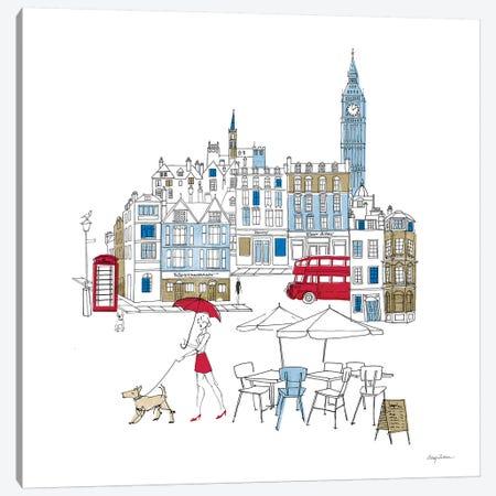 World Cafe I London Color Canvas Print #ATI15} by Avery Tillmon Canvas Artwork