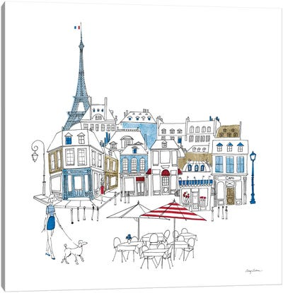 World Cafe II Paris Color Canvas Art Print