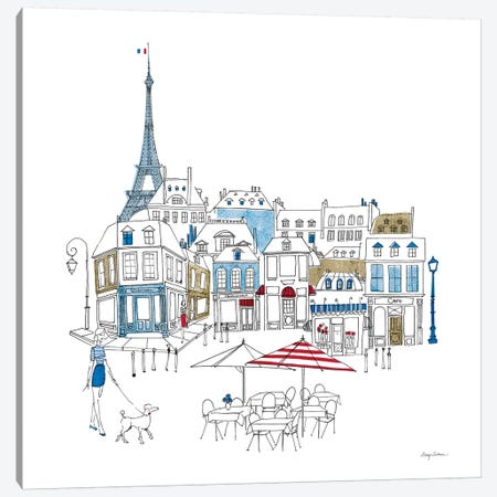 World Cafe II Paris Color Canvas Print #ATI16} by Avery Tillmon Canvas Art