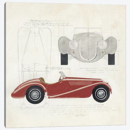 Roadster I Red Car Canvas Print #ATI17} by Avery Tillmon Canvas Art