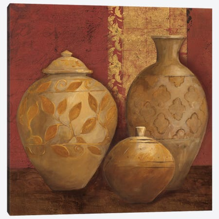 Aegean Vessels On Spice Crop Canvas Print #ATI1} by Avery Tillmon Art Print