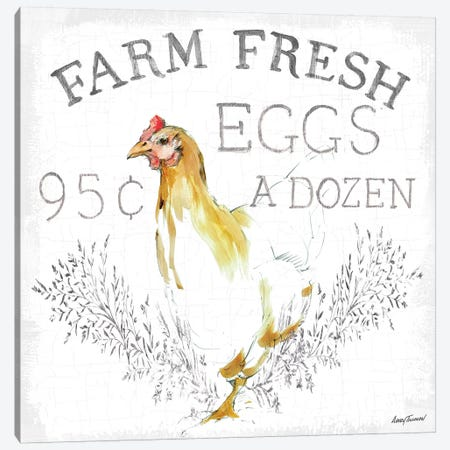 Farm Fresh enamel 3-Piece Canvas #ATI27} by Avery Tillmon Canvas Print